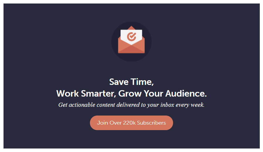 Call to action example from Coschedule
